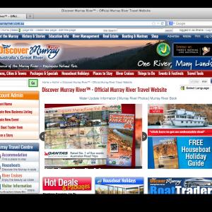 Discover Murray River website