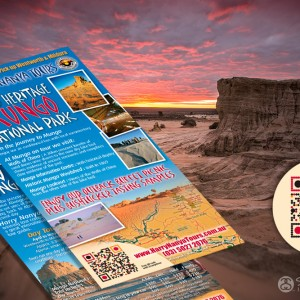 Harry Nanya Mungo National Park flyers with QR code