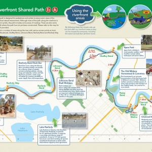 Mildura Riverfront Shared Path brochure and map