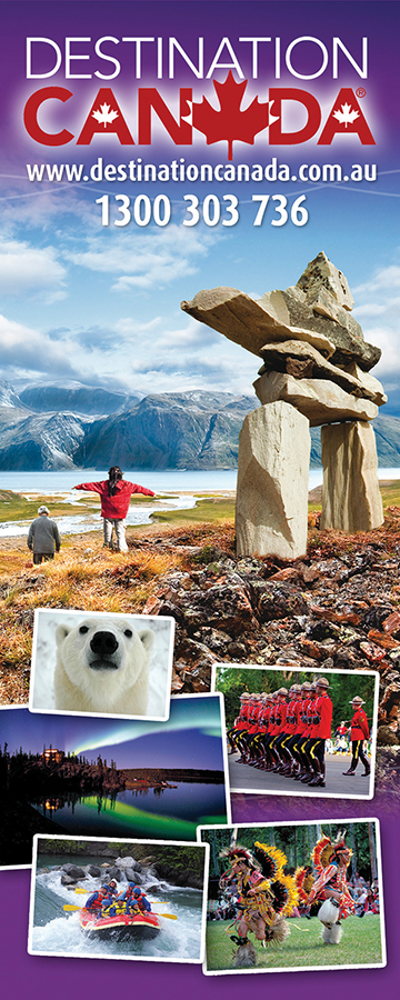 Destination Canada pull up banner