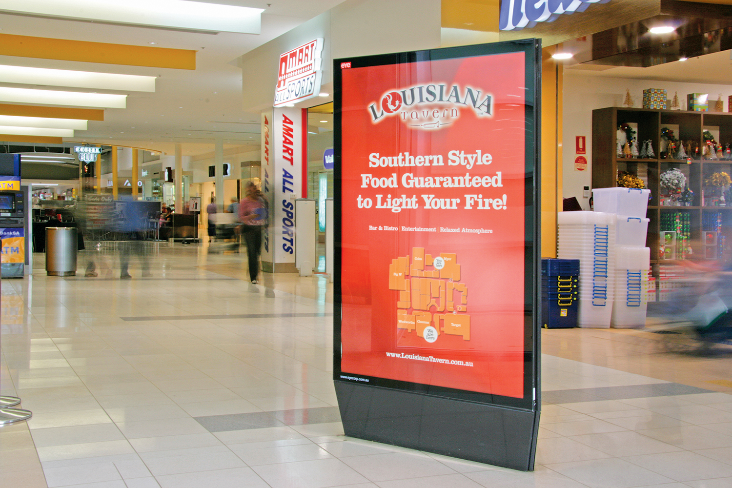 Louisiana Tavern shopping centre display