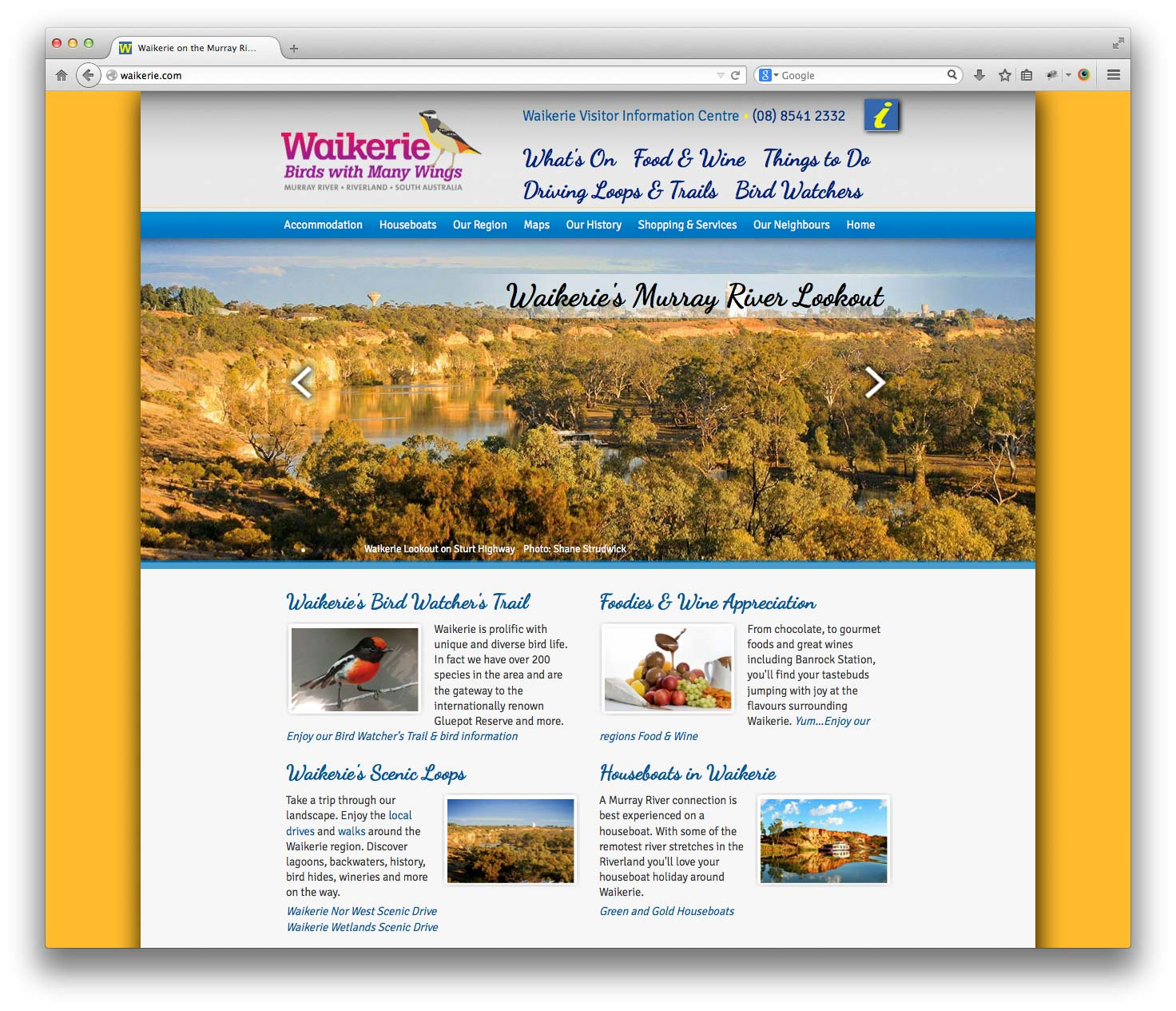 Waikerie.com website in the Riverland, South Australia