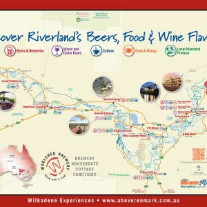 Discover Riverland Beers, Food and Wine Flavours map