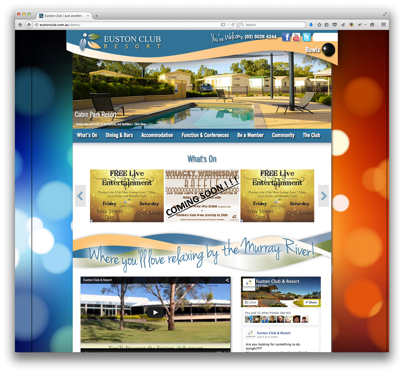 Euston Club Resort website