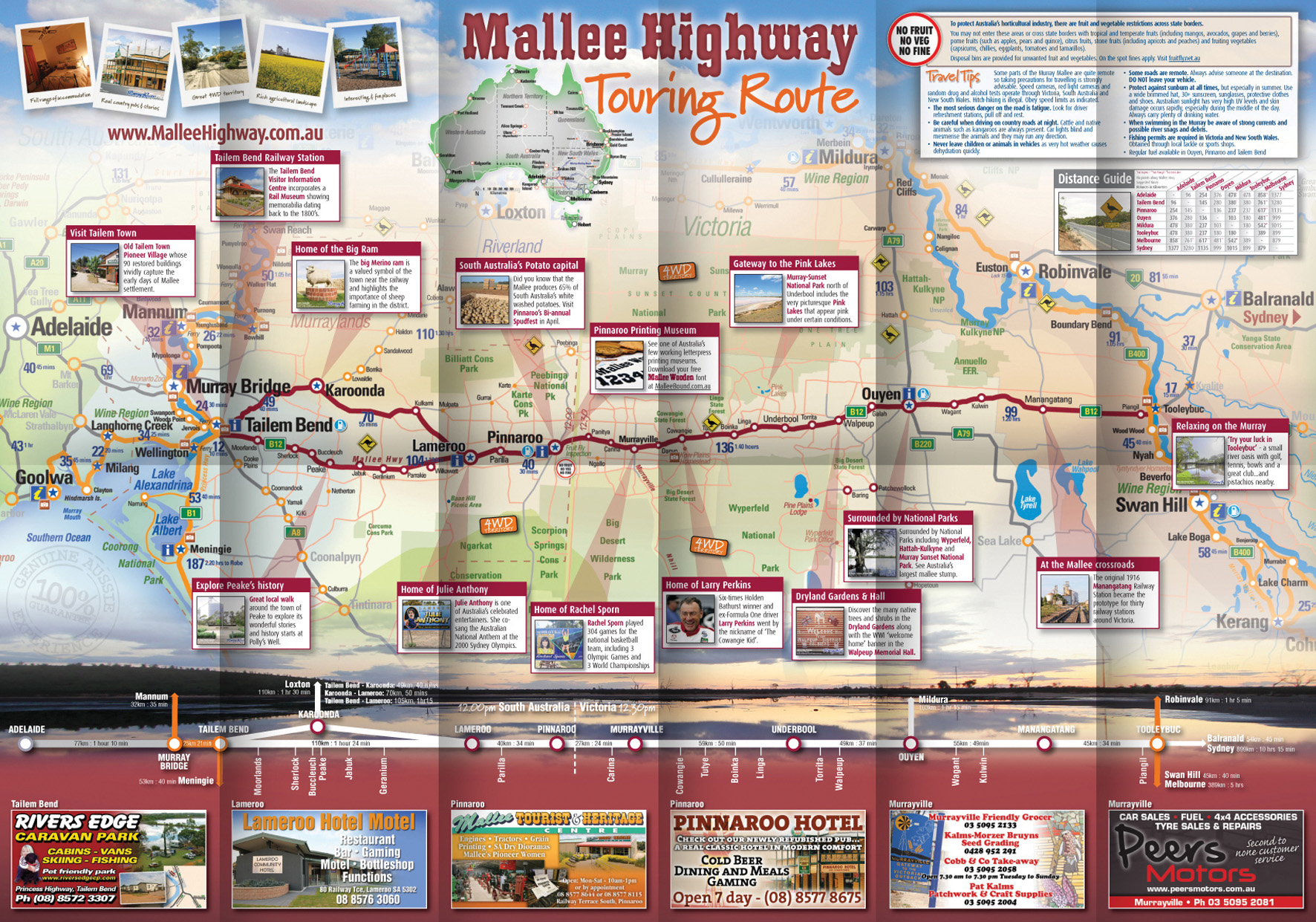 Mallee Highway Touring Route map