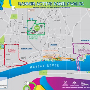 Mannum Active Family Walks map