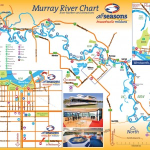 Mildura and All Seasons Houseboats map