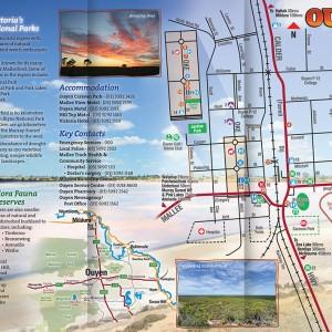 Ouyen Town Mallee Map