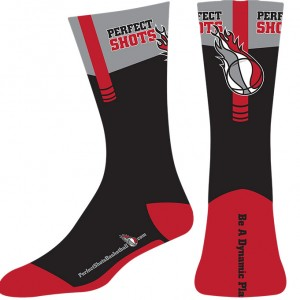 Perfect Shots Basketball Socks design