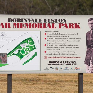 Robinvale War Memorial Park sign