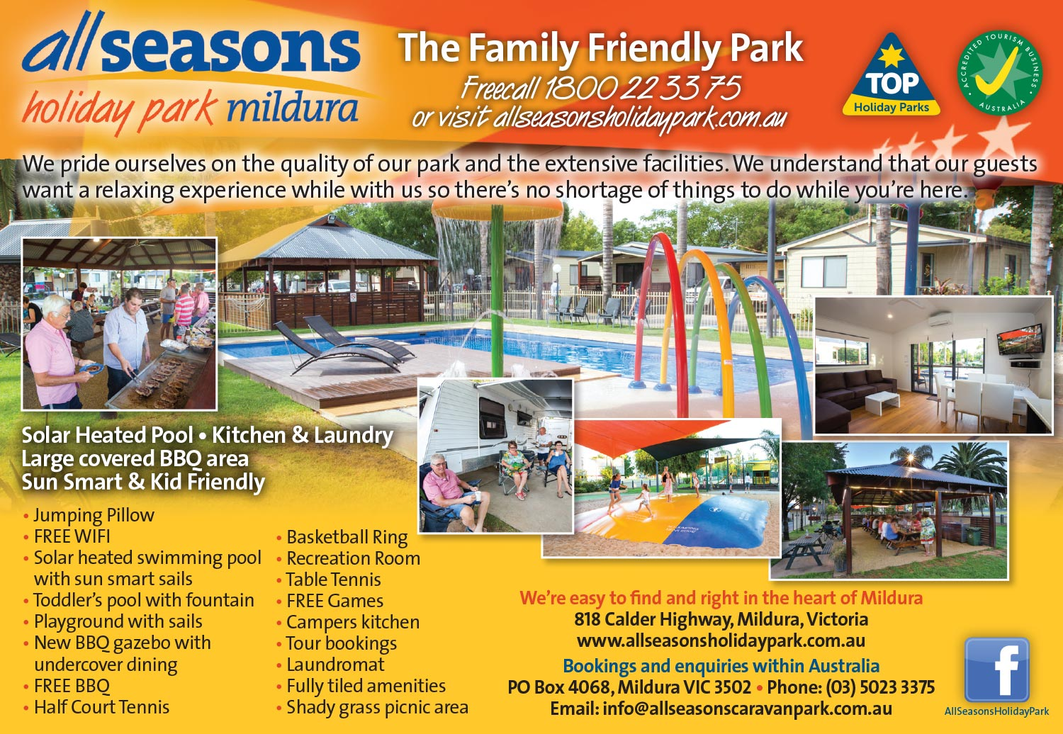 All Seasons Holiday Park ad