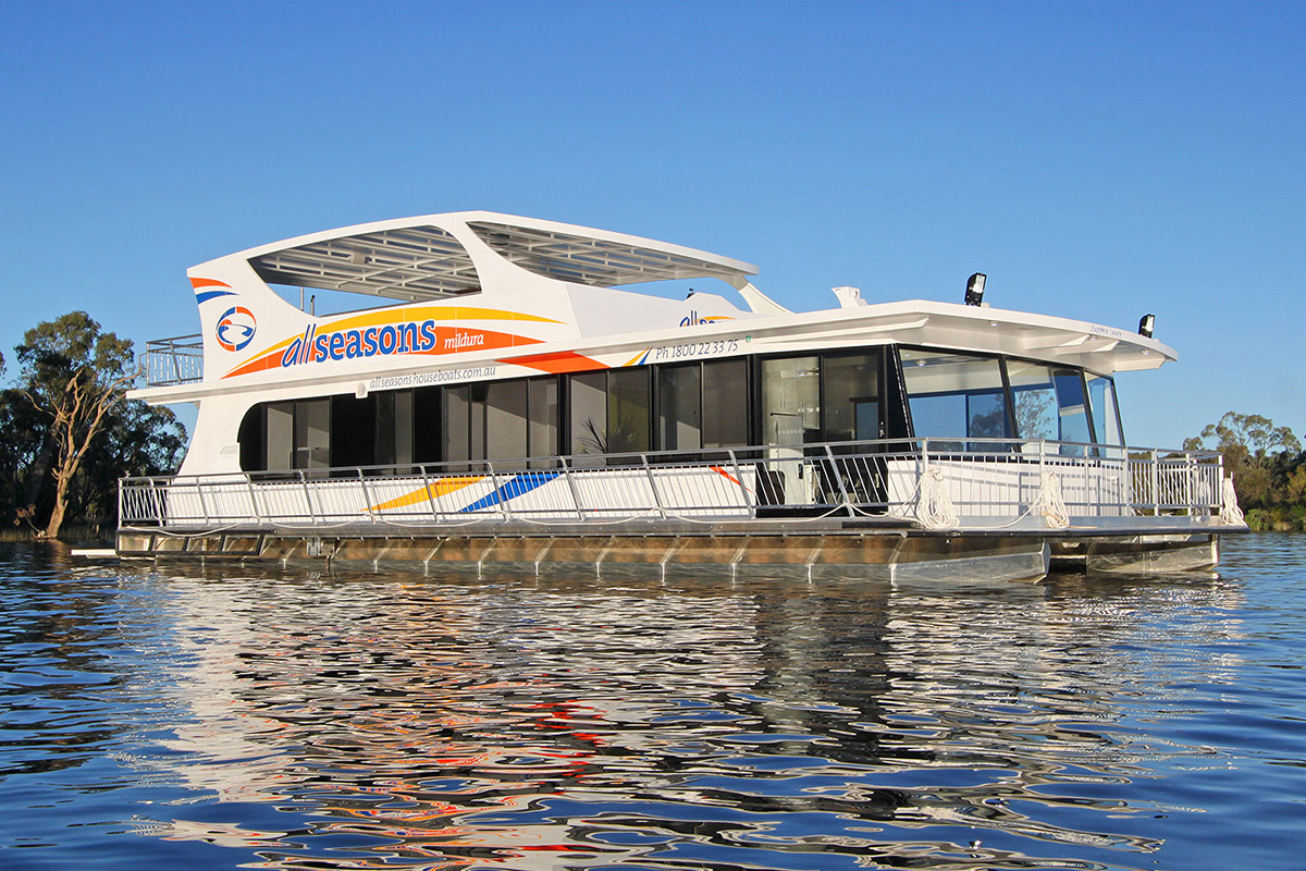 All Seasons Houseboats branding