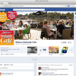 Mildura Dockside Cafe Facebook branding