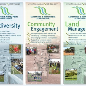 Eastern Hills and Murray Plains Catchment Group banners