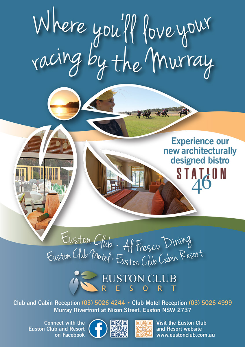 Euston Club Resort A5 Racing Ad