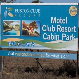 Euston Club Resort Highway signs