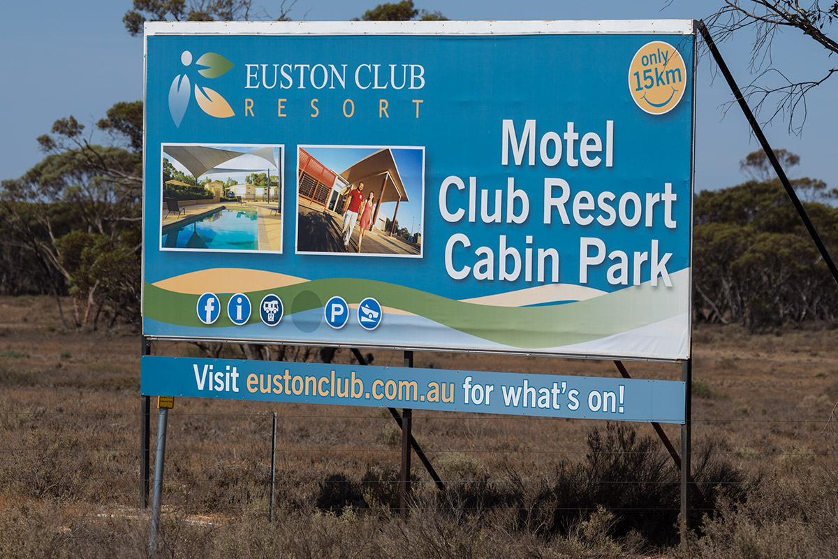 Euston Club Resort Highway signs