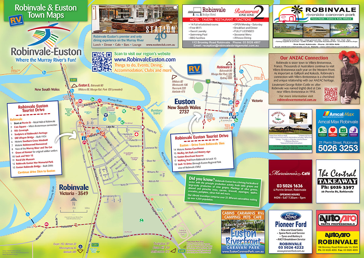 Euston Robinvale town map
