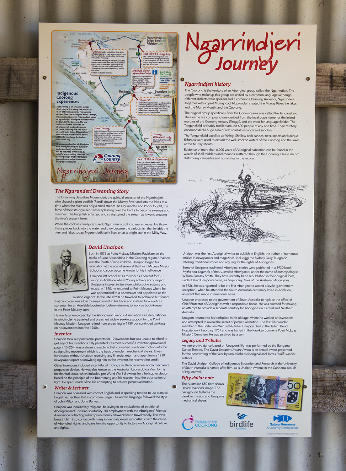 Ngarrindjeri journey sign Narrung