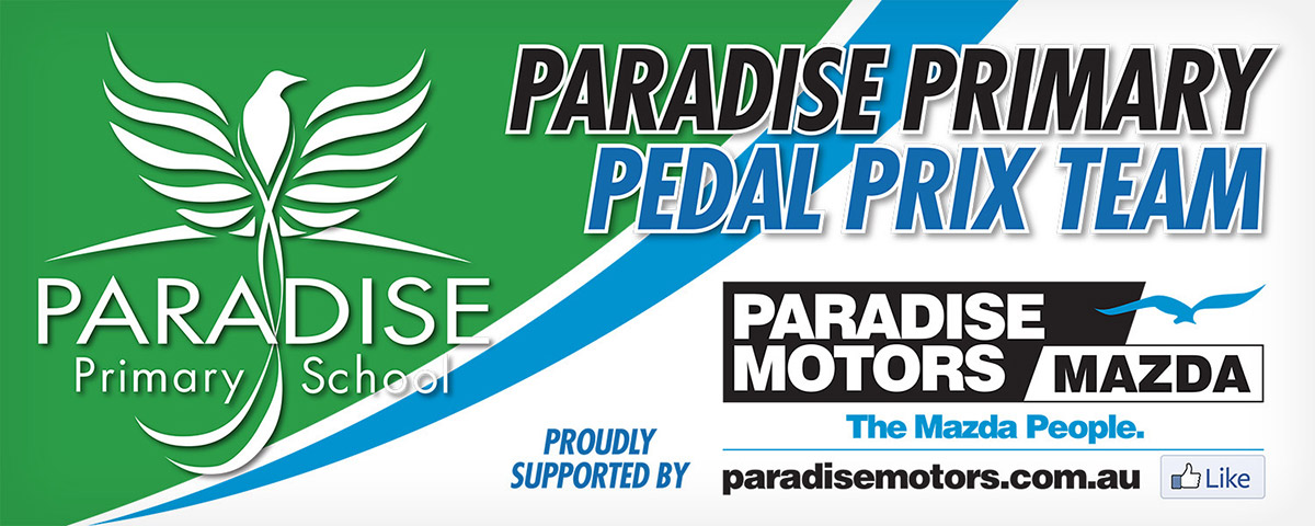 Paradise Primary Pedal Prix Banner