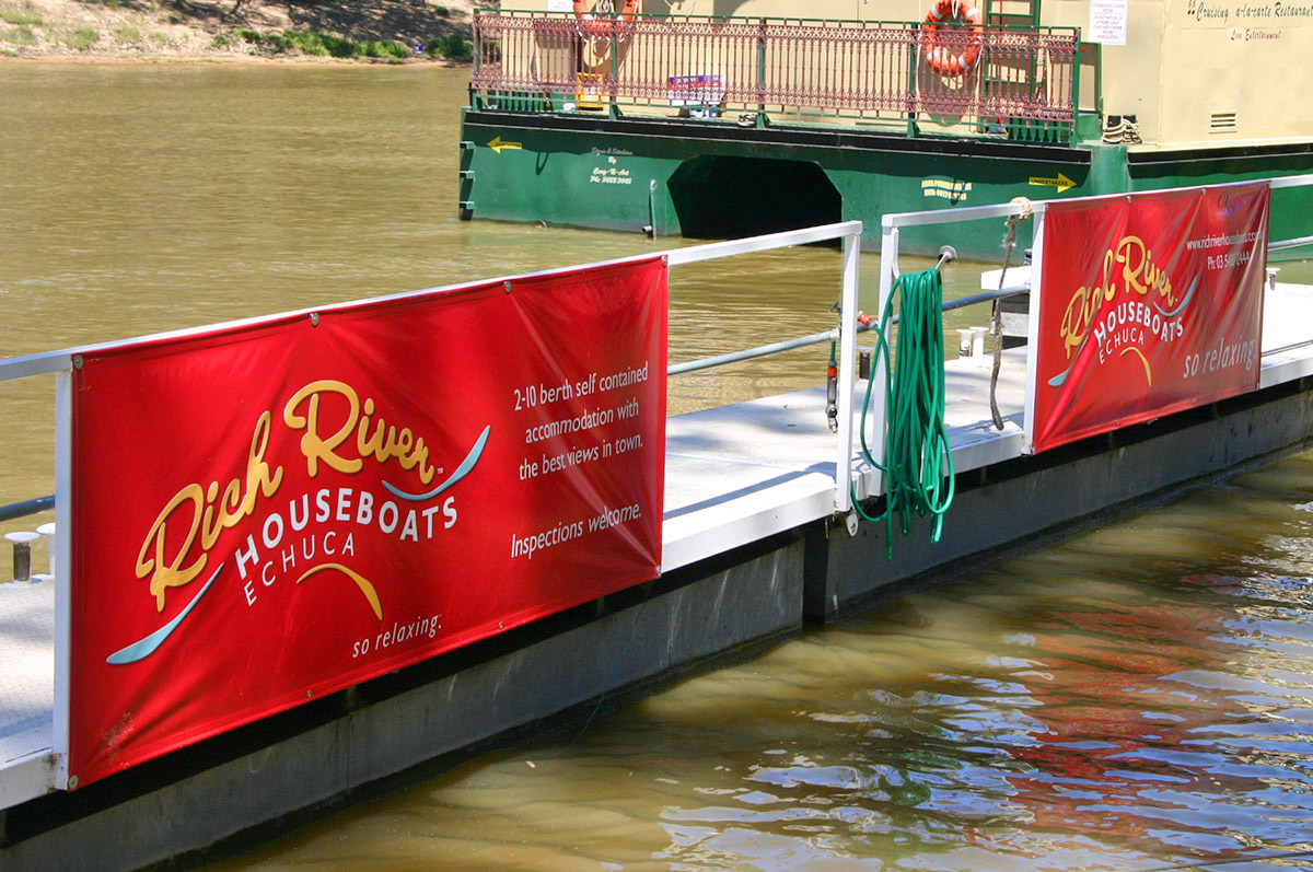 Rich River Houseboats banners