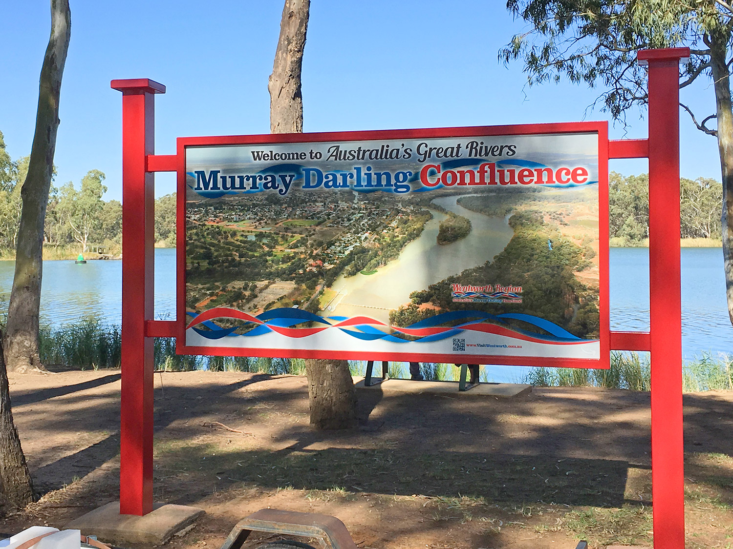 Murray Darling Junction Interpretive sign