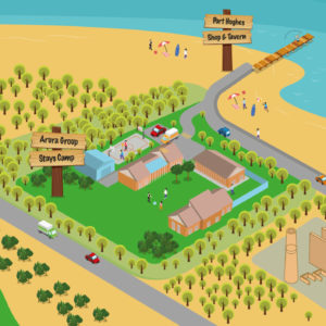 Yorke Peninsula Group Accommodation illustration